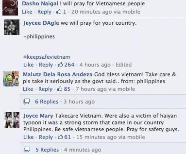 Dân mạng Philippines nén đau thương cầu nguyện cho Việt Nam